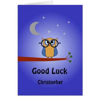 Cartão Coruja de noite inteligente personalizada da boa