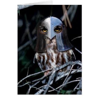 Cartão Coruja do cavaleiro