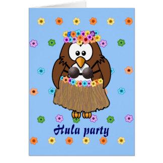 Cartão coruja do wahine