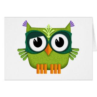 Cartão coruja verde