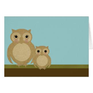 Cartão Corujas de dia das mães