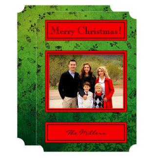 Cartão Corujas no verde - foto do feriado do Feliz Natal