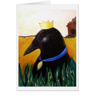 Cartão Corvo da fita azul
