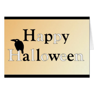 Cartão Corvo o Dia das Bruxas feliz•Aniversário