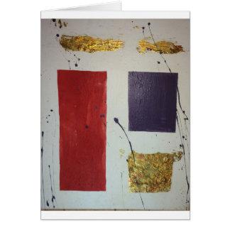 """Cartão """"Cosmético original """" dos meios mistos abstratos"""
