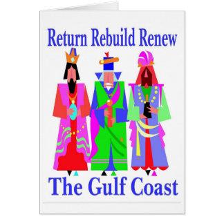 Cartão Costa do golfo da reconstrução