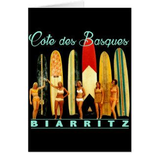 Cartão Costa dos Basco Biarritz