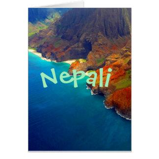 Cartão Costa Kauai Havaí do Nepali