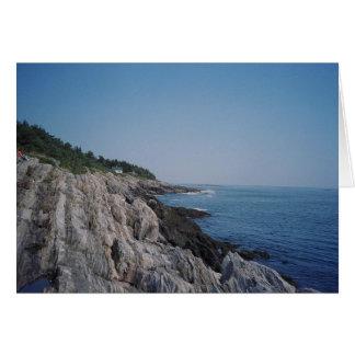 Cartão Costa rochosa da ilha de Bailey