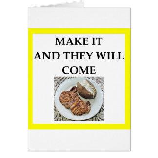 Cartão costeleta de carne de porco