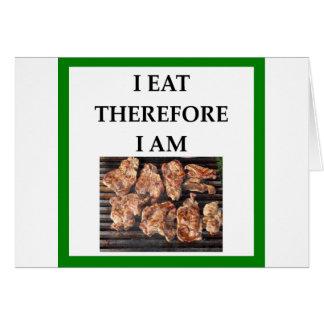 Cartão costeletas de carne de porco