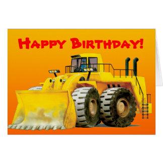 Cartão Costume amarelo do escavador