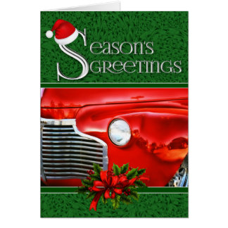 Cartão Costume automotriz clássico do Natal   do carro  