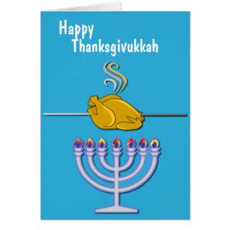 Cartão Costume cómico de Thanksgivukkah