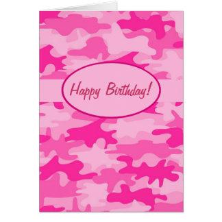 Cartão Costume cor-de-rosa fúcsia do feliz aniversario da