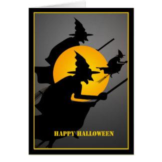 Cartão Costume da bruxa do Dia das Bruxas