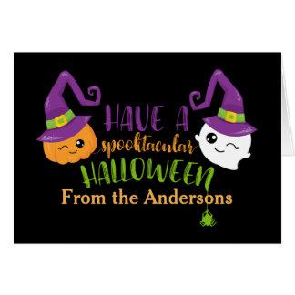 Cartão Costume de Spooktacular o Dia das Bruxas