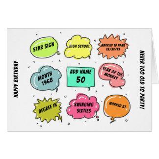 Cartão Costume um nascer de 1968 anos - ESTE É SUA vida -