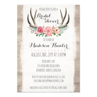 Cartão Costume Wedding rústico do chá de panela dos
