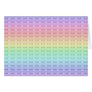 Cartão - costura do arco-íris