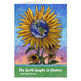 Cartão Cotação da terra do girassol