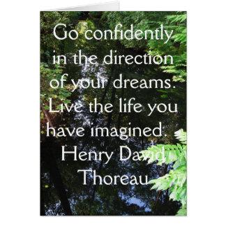 Cartão COTAÇÃO de Henry David Thoreau