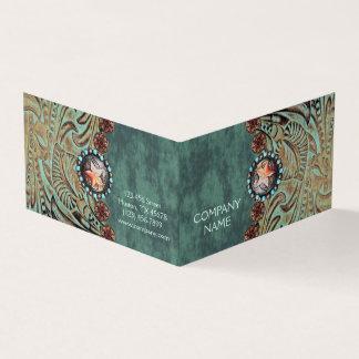 Cartão couro utilizado ferramentas elegante do país