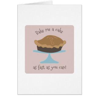 Cartão Coza-me um bolo