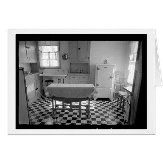 Cartão Cozinha da fazenda da Depressão-Era