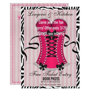 Cartão Cozinha do amor e chá de panela da lingerie