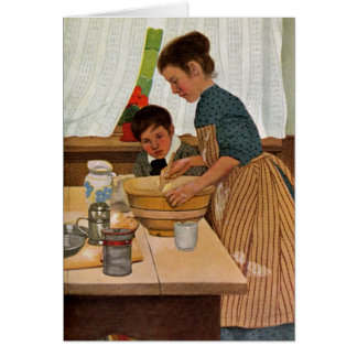 Cartão Cozinhar do dia das mães com mamã