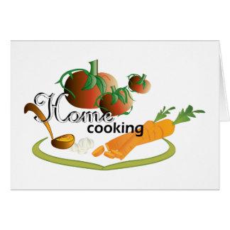 Cartão cozinhar home II