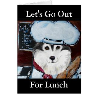 Cartão Cozinheiro chefe do Malamute do Alasca