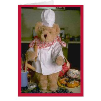 Cartão Cozinheiro chefe do urso de ursinho