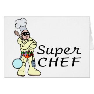 Cartão Cozinheiro chefe super