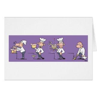 Cartão Cozinheiro engraçado (aniversário)