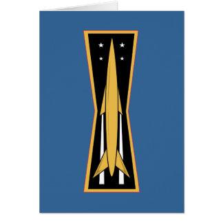 Cartão Crachá do míssil da força aérea