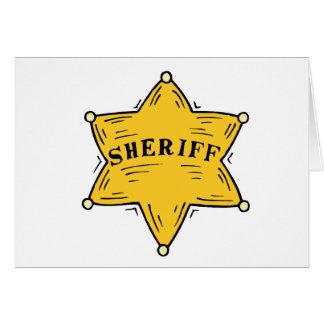 Cartão Crachá do xerife