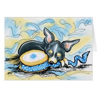 Cartão Crafting do bom dia da chihuahua