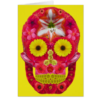 Cartão Crânio 6 da flor