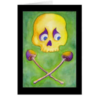 Cartão Crânio & cogumelos