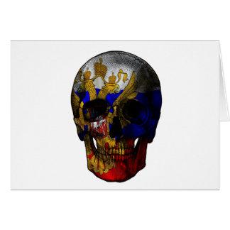 Cartão Crânio da bandeira do russo