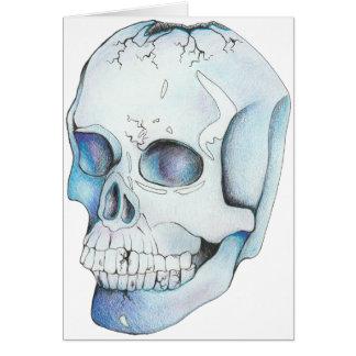 Cartão Crânio de cristal rachado