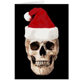 Cartão Crânio de Papai Noel - o Natal está inoperante