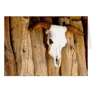 Cartão Crânio descorado Sun da vaca do sudoeste, vazio