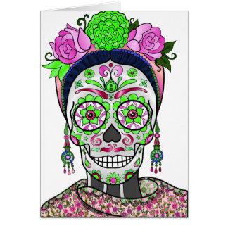 Cartão Crânio do açúcar do melhor vendedor