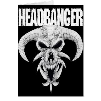 Cartão Crânio do Headbanger