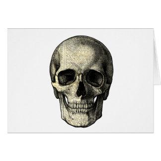 Cartão Crânio do jornal