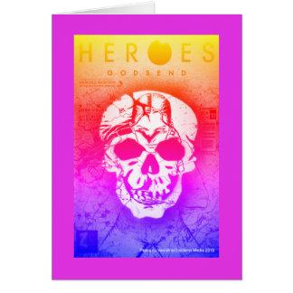 Cartão Crânio dos heróis por Pasha du Namorados