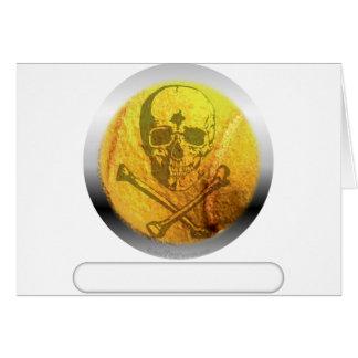 Cartão Crânio e Crossbones de bola de tênis